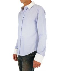Band of Outsiders - Blue Contrasting Collar and Cuff Oxford Shirt for Men - Lyst