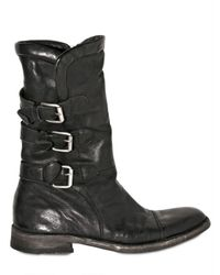 BB Bruno Bordese | Black Triple Belt Buffalo Boots for Men | Lyst