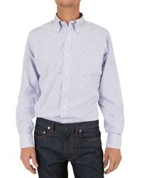 Black Fleece By Brooks Brothers | Blue Button Down Striped Shirt for Men | Lyst