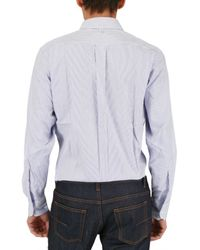 Black Fleece By Brooks Brothers - Blue Button Down Striped Shirt for Men - Lyst