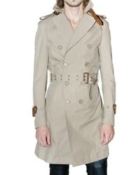 Burberry Prorsum | Natural Bonded Cotton Poplin Trench Coat for Men | Lyst
