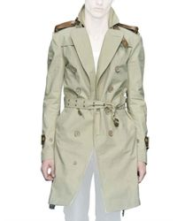 Burberry Prorsum - Natural Bonded Cotton Poplin Trench Coat for Men - Lyst