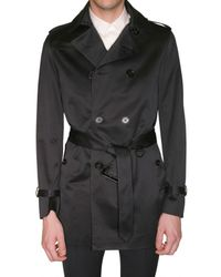 Burberry Prorsum | Black Double Breasted Trench Coat for Men | Lyst