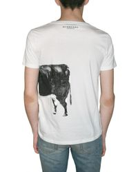 Burberry Prorsum - White Big Cow Print Jersey T-shirt for Men - Lyst