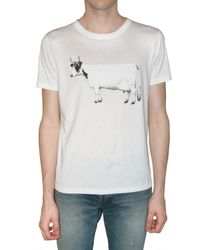 Burberry Prorsum | White Cow Print Jersey T-shirt for Men | Lyst