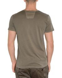 Closed - Green V-neck Washed Jersey T-shirt for Men - Lyst
