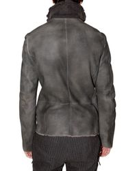 CoSTUME NATIONAL   Black Mestizo Shearling Jacket for Men   Lyst