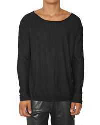 Dead Meat | Black Fishnet Cotton Knit Sweater for Men | Lyst