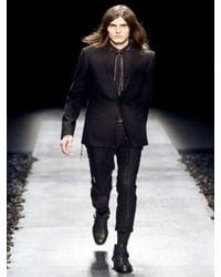 Dior Homme - Black Cashmere Toile Flannel Suit for Men - Lyst