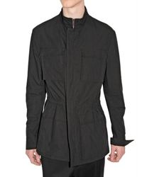 Dior Homme - Black Compact Cotton Canvas Safari Jacket for Men - Lyst