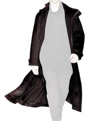 Dior Homme - Black Hooded Cashmere Toile Coat for Men - Lyst