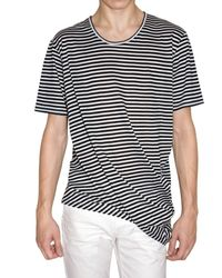 Dior Homme | Black Rayon Blend Striped Jersey T-shirt for Men | Lyst