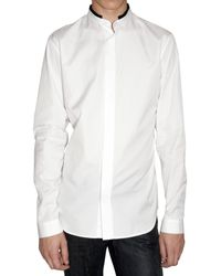 Dior Homme | White Contrasting Collar Poplin Shirt for Men | Lyst