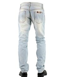 Dolce & Gabbana - Blue 19 Cm Hem Distressed Denim Jeans for Men - Lyst