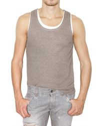 Dolce & Gabbana | Natural Ribbed Linen Tank Top for Men | Lyst