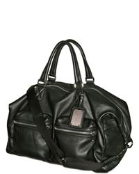 Dolce & Gabbana | Black Textured Nappa Weekender Luggage for Men | Lyst