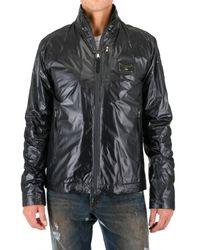 Dolce & Gabbana | Black Zipped Nylon Jacket for Men | Lyst