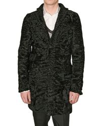 DSquared² | Black Astrakhan Coat for Men | Lyst