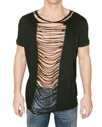 DSquared²   Black Open Front Jersey T-shirt for Men   Lyst