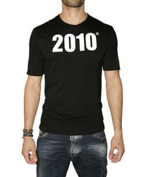 DSquared² - Black Reversible Goodbye Welcome T-shirt for Men - Lyst