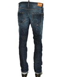 DSquared² | Blue 19cm Flags Stretch Denim Slim Jeans for Men | Lyst