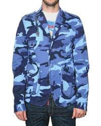 DSquared² - Blue Camouflage Cotton Hunter Sport Jacket for Men - Lyst