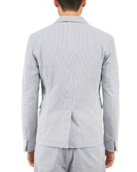 DSquared² - Blue Pinstripe Seersucker Jacket for Men - Lyst