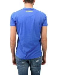 DSquared² | Blue Washed Jersey Beach Volley T-shirt for Men | Lyst