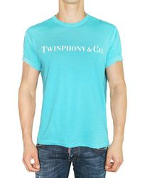 DSquared² | Blue Twinphony&co Washed Jersey T-shirt for Men | Lyst