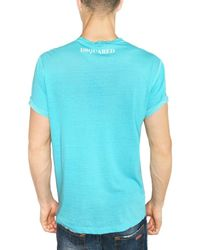 DSquared² - Blue Twinphony&co Washed Jersey T-shirt for Men - Lyst
