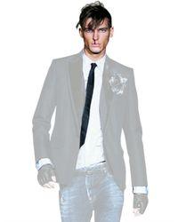DSquared² - White Pvc Collar Poplin Carpenter Shirt for Men - Lyst