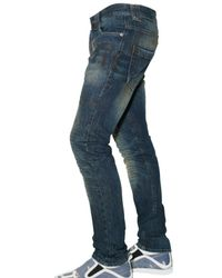 John Galliano - Blue 17cm Gazzette Print Dirty Den Jeans for Men - Lyst