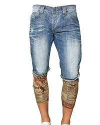 John Galliano | Blue Washed Stretch Denim Shorts for Men | Lyst