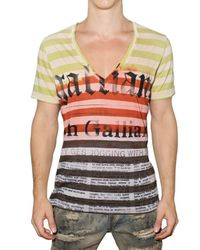 John Galliano - Gazzette Multicolor Jersey T-shirt for Men - Lyst