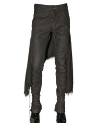 Gareth Pugh | Black Denim with Gauze Skirt Jeans for Men | Lyst