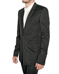 Givenchy - Black Tonal Leopard Print Suit for Men - Lyst