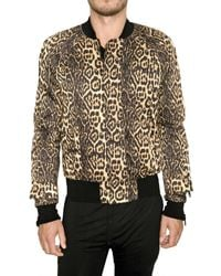 Givenchy | Multicolor Cotton Gabardine Bomber Jacket for Men | Lyst