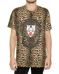 Givenchy - Multicolor Leopard Clown Oversized T-shirt for Men - Lyst