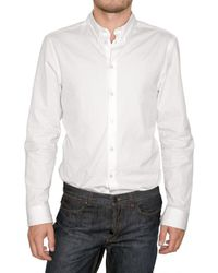 Givenchy | White Reversible Collar Poplin Shirt for Men | Lyst