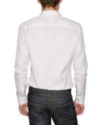 Givenchy - White Reversible Collar Poplin Shirt for Men - Lyst