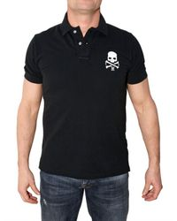 Hydrogen | Black Skull Piquet Polo for Men | Lyst