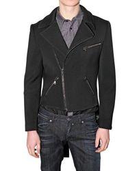 John Richmond | Black Frac Stretch Wool Jacket for Men | Lyst
