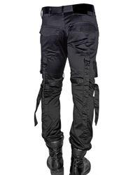 Kiryuyrik - Black Twill Cotton Cargo Trousers for Men - Lyst