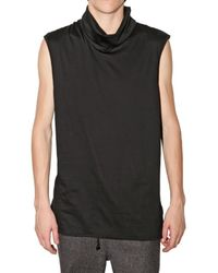 Kris Van Assche | Black Turtleneck Jersey Vest for Men | Lyst