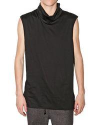 Kris Van Assche | Black Turtleneck Jersey Vest for Men | Lyst