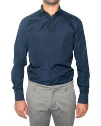 Maurizio Miri | Blue Poplin Snap Button-down Shirt for Men | Lyst