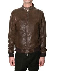 Meatpacking D - Brown Washed Calf Leather Jacket for Men - Lyst