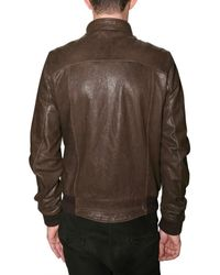 Meatpacking D | Brown Washed Calf Leather Jacket for Men | Lyst