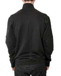 Neil Barrett | Black Bonded Zip Collar Fleece Sweatshirt for Men | Lyst