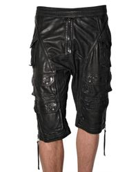 Neil Barrett - Black Leather Trousers for Men - Lyst